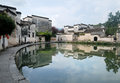 Hong cun old village water town anhui china Royalty Free Stock Photography