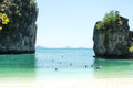 Hong island andaman sea thailand krabi Stock Photos