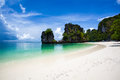 Hong island beach scenic view of krabi thailand Royalty Free Stock Images