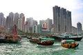 Hong kong aberdeen harbour sumpang in of Royalty Free Stock Photography