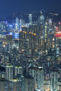 Hong kong aerial view of city Royalty Free Stock Photo