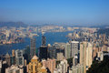 Hong kong aerial view from victoria peak Stock Photography
