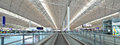 Hong kong airport lobby on april in china the is also colloquially known as chek lap kok as it is located in Stock Photo
