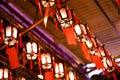 Hong Kong - 19 April, 2014 - Chinese lantern inside Man Mo Temple, Sheung Wan, Hong Kong Royalty Free Stock Photo