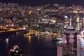 Hong Kong Buildings Night Scene Royalty Free Stock Photo