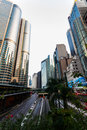 Hong kong china – october view street central financial center in asia the area is one of the most populated in the Royalty Free Stock Image