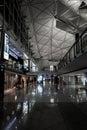 Hong kong china january inside hong kong international airport air gateway to mainland china east and south east asia on Stock Photos