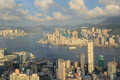 Hong Kong, China skyline panorama Royalty Free Stock Photo
