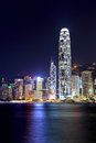 Hong Kong city at night Stock Photo