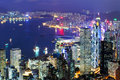 Hong kong city at night Royalty Free Stock Photography