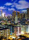 Hong kong city at night Stock Photography