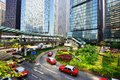Hong kong city scene pedestrians and traffic on island october in s a r the is one of the world s leading financial centres Stock Image