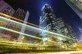 Hong Kong city with traffic Royalty Free Stock Photo