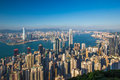 Hong Kong city view from peak Royalty Free Stock Photo