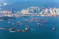Hong kong city view from victoria peak seen Royalty Free Stock Photo