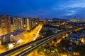 Hong Kong cityscape at night Royalty Free Stock Photo