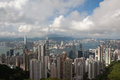Hong kong cityscape at noon with detail Royalty Free Stock Images