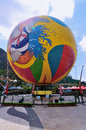 Hong kong colourful balloons at ocean park hot air balloon replicas greet visitors to one of the open air theatres s famous Stock Images