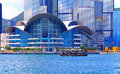 Hong kong convention and exhibition centre famous landmark of the Stock Images
