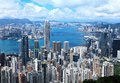 Hong kong in day time Royalty Free Stock Image