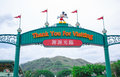 Hong Kong Disneyland exit signage Royalty Free Stock Photo
