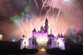 Hong kong disneyland firework show at Stock Image