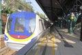 Hong kong disneyland mtr resort line at station platform Royalty Free Stock Images