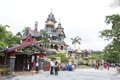 Hong kong disneyland mystic manor in the Royalty Free Stock Photo