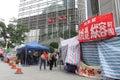 Hong Kong Dock Worker Strike Royalty Free Stock Photo