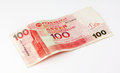 Hong Kong Dollar 100 Note Royalty Free Stock Photography