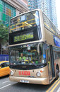 Hong kong double decker bus a in Stock Image