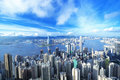 Hong Kong downtown Royalty Free Stock Photo