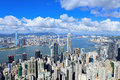 Hong kong downtown at day time Royalty Free Stock Photography