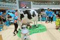 Hong kong dutch lady pure animal husbandry farm event located in metro city plaza the aims to promote the nutritional value Royalty Free Stock Image