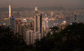 Hong kong famous city spot on a balancing and support area Stock Images