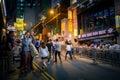 Hong Kong Famous Nightlife place - Lan Kwai Fong Royalty Free Stock Photo