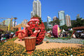 Hong kong flower show march located in victoria park the exhibits a rich profusion of potted Royalty Free Stock Image