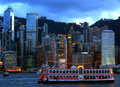 Hong Kong Harbor View Royalty Free Stock Photos