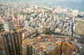 Hong Kong High Angle View Stock Photo