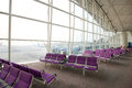 Hong kong international airport china april empty seats at the Stock Image