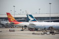 Hong kong international airport june also call chek lap kok Royalty Free Stock Images
