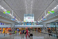 Hong kong international airport terminal arrival hall of Royalty Free Stock Photos