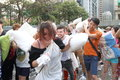 Hong kong intl pillow fight international in Stock Photos