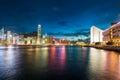 Hong kong july hong kong skyline on stock photography concept for usage Royalty Free Stock Image