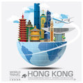 Hong Kong Landmark Global Travel And Journey Infographic Royalty Free Stock Photo