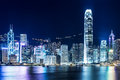 Hong kong landmark at night Stock Photo