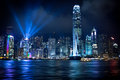 Hong Kong Lightshow Photos stock
