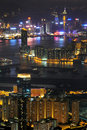 Hong Kong night scenes Stock Image