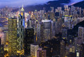 Hong Kong Night Skyline Stock Photography