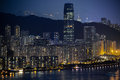 Hong kong night view Image stock